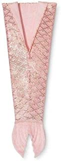 Mermaid Tail Wearable Blanket Pink/Gold 66x 55