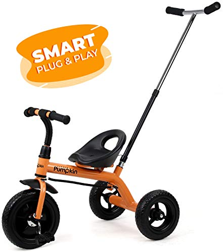 Little Pumpkin Classic T20 Baby Tricycle Smart Plug and Play Tricycle for Kids Boys Girls of 1.5 Years to 5 Years(Orange)…