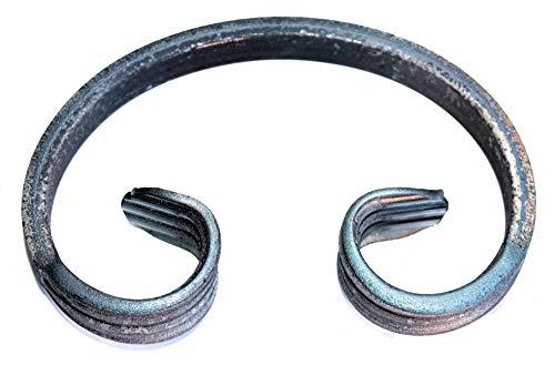 UHRIG ® C Schnörkel Bogen schmiedeeisen 12x6mm Zierelement Stahl Eisen für Zaun Geländer (115x75mm)