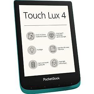 PocketBook e-Book Reader 'Touch Lux 4' (8 GB Speicher; 15,24 cm (6 Zoll) E-Ink Carta Display; Wi-Fi) in Emerald