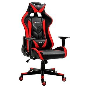 T-LoVendo Silla Gaming Oficina Racing Sillon Gamer Racer X Profesional Videojuegos PC, Universal