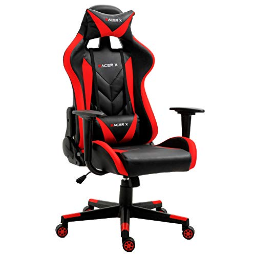 T-LoVendo Silla Gaming Oficina Racing Sillon Gamer Racer X