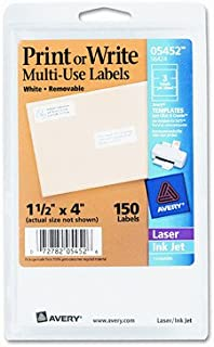 Print or Write Removable Multi-Use Labels, 1-1/2 X 4, 150/Pack [Set of 2]