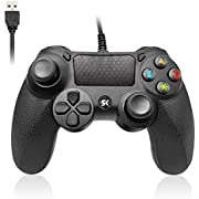 PS4 Controller, Controller für PS4, Playstation 4 Controller, DualShock 4 Controller, Wired Gaming Controller für PlayStation 4/PS4/PS4 Slim/PS4 Pro and PC mit 2,1m USB Kable