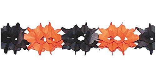 festi fiesta Guirlande Orange et Noire ignifugée 4 m Halloween Decoration