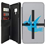 Flip Wallet Case Compatible with Galaxy Note 9 (8 Bit Target Game) with Adjustable Stand and 3 Card Holders | Shock Protection | Lightweight | Includes Free Stylus Pen by Innosub