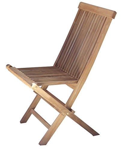 BEHO Natürlich gut in Holz ! 2 Klappstühle Epppendorf 47x60x89 cm Teakholz selected Kernholz unbehandelt zusammengebaut