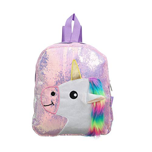 Kawosh Mochila Unicornio, Mochila Escolar de Lentejuelas Bling Glitter Tote Bag Casual Sport Outdoor Sport Hiking Daypack para niñas Mujeres 25 * 8 * 30.5cm
