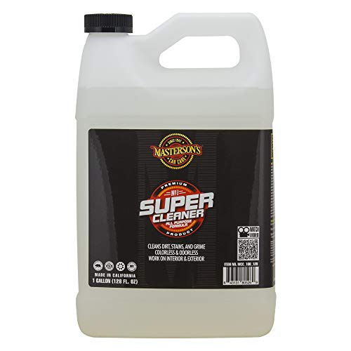 MASTERSON'S CAR CARE MCC_108_128 Super Cleaner All Purpose Formula - Colorless and Odorless Cleaner Works On Interior and Exterior Surface - Removes Dirt Grime and Food Stains (1 Gallon)