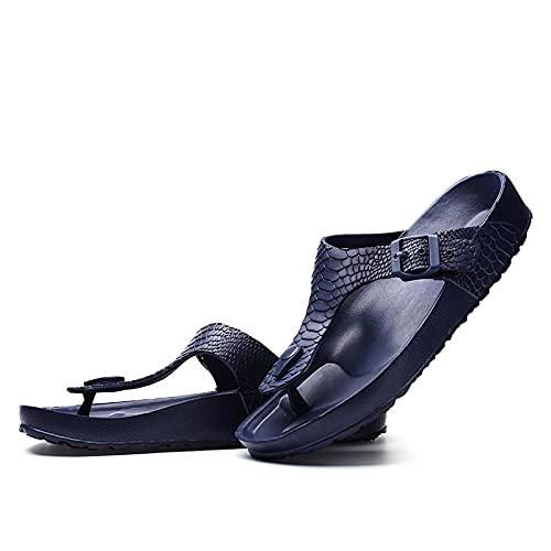 NISHIWOD Ciabatte Infradito Pantofola Sandali Infradito da Uomo con Doccia Antiscivolo, Sandali da Piscina per Uomo, Scarpe da Spiaggia Casual All'Aperto di Tendenza, Pantofole Leggere 38 Blu