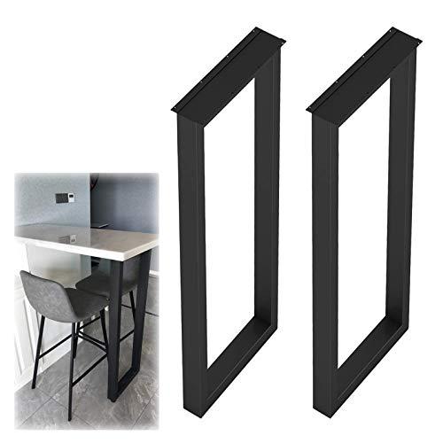 YANJ Juego de 2 patas de metal para mesa de café, patas cuadradas de metal, 40 cm de ancho x 70 cm, patas de repuesto para banco de barra de escritorio, color negro, 50 x 100 cm