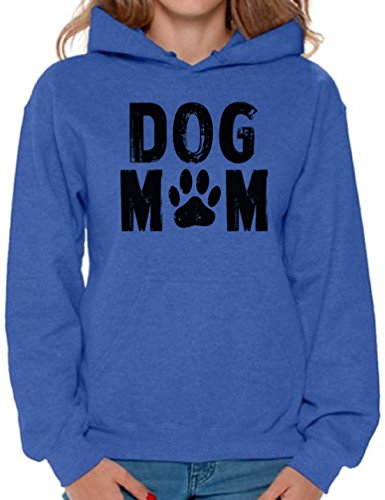 Awkward Styles Women's Dog Mom Hoodie Hooded Sweatshirt Dog Lover Dog Paw Gift for Mom + Sticker Gift