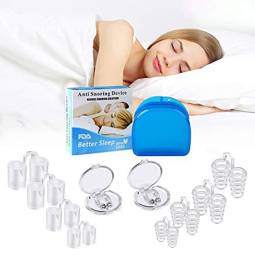 Clip Nasal Magnético Anti-Ronquidos, Dilatador Nasal Nariz Clip Stopper Anti ronquido Puede Aliviar los Ronquidos Antironquidos Facilitar la Respiración y Dormir Cómodo (10)
