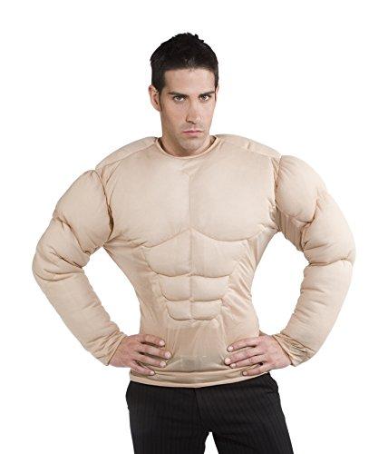 Rubies - Disfraz pecho musculoso, para hombre, talla única (S8147)