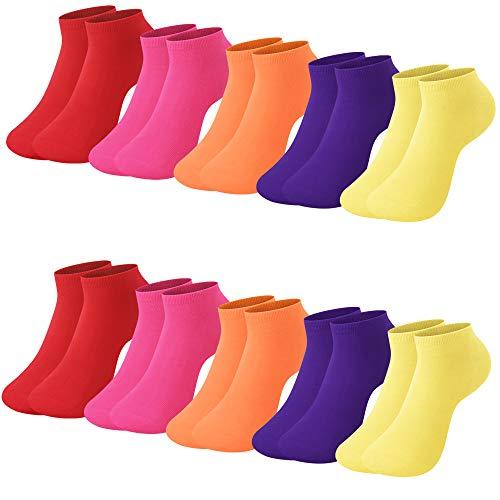 L&K 10 Paar hochwertige Damen Sneaker Socken Sonnenstrahlen 2103H 39-42