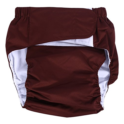 Mutandine/pannoloni per incontinenza di adulti anziani, regolabili, in tessuto lavabile, riutilizzabili, dimensioni: da 52 a 108 cm