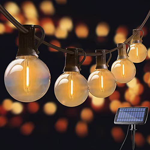 string lights esterno Solar LED String Lights Outdoor 25ft G40 Globe LED impermeabile 25 + 2 lampadine di ricambio