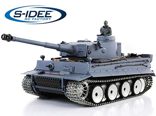 s-idee® 3818-1 Upgrade Version German Tiger Panzer RC Heavy Tank 1:16
