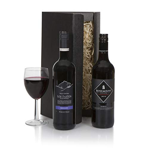 Red Wine Duo Selection - Wine Hampers & Wine Gifts - Australian and Chilean Wine Gift For Him Or For Her - Perfect Birthday or Thank You Wine Gifts