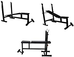 MADHRUN BodyKare 4 in 1 Gym bench (Flat Bench, Incline, Decline, Flat and Sit Up Bench)