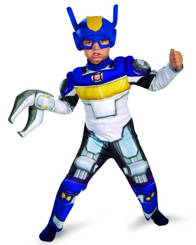 Boy's Transformers Chase Rescue Bots Toddler Muscle Costume, 3T-4T