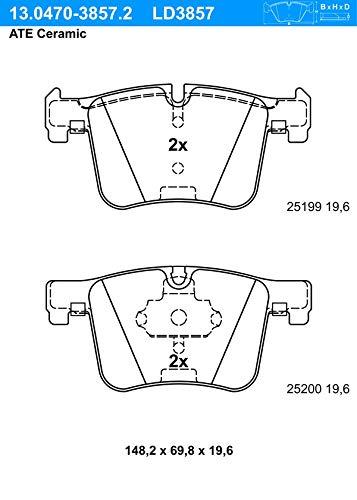 ATE - TEVES 13.0470-3857.2 Bremsbelagsatz, Scheibenbremse