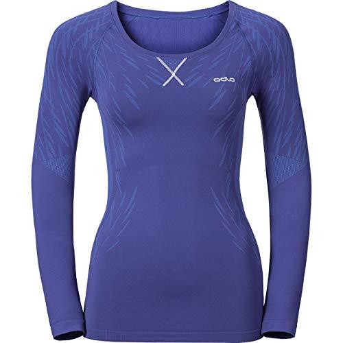Odlo Evolution Light Blackcomb T-Shirt Femme, Spectrum Blue/Baja Blue, FR (Taille Fabricant : XL)