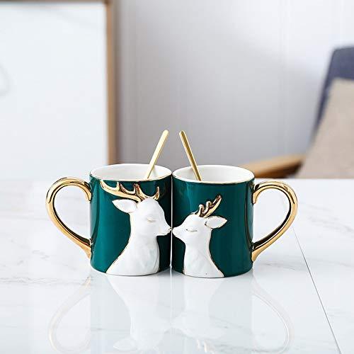 Copa De Vino Taza De Café Tazaluxury Coffee Cup Quality Mug Couples Cup With Cover Spoon Bone China Ceramic CupW