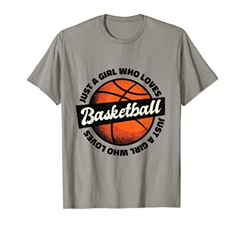 Sólo una chica a la que le gusta jugar al baloncesto Vintage Camiseta