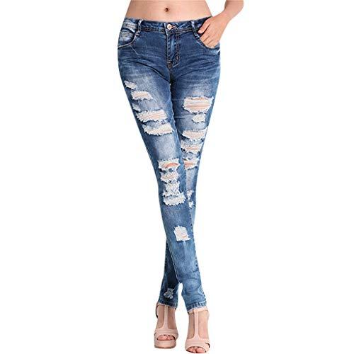 SHINEHUA jeans dames jeans buizenjeans skinny slim fit stretch boyfriend jeans doorscheurde destroyed jeans broek met gaten casual vrijetijdsbroek