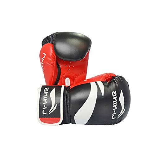 ZHONGYUE Boxing Gloves, Adult Sanda Fighting Professional Game Boxing Set, Taekwondo Training Gloves, Best Gift, Black 12oz Sports,