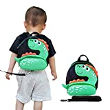 Toddler Backpack with Anti-Lost Harness Small Dinosaur Backpack Safety Leash for Boys and Girls Age 1-3 Years Old …