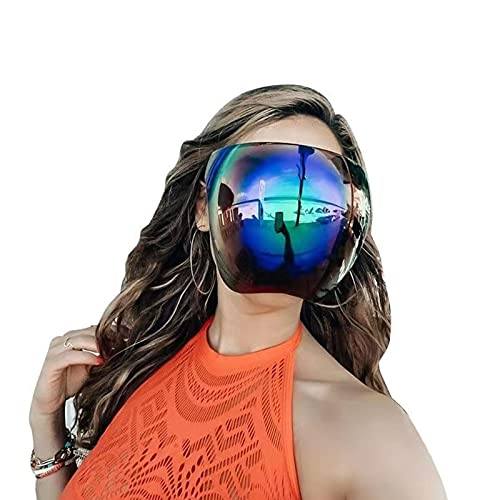 Oversized Sunglasses Face Shield, Big Shield Full Face Shield Mirrored Visor Glasses, Lightweight and Comfortable, Ideal…