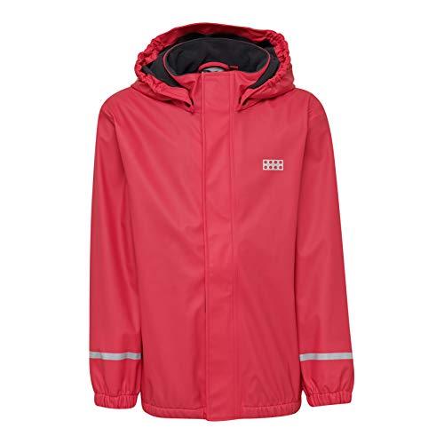 LEGO Wear LWJORDAN Mädchen Regenbekleidung 729-Regenjacke gefüttert Regenjacke, Rot (Red 364), (Herstellergröße:146)