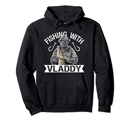 Vladimir Putin Pescando con Vladdy Gafas Bandera Rusia Sudadera con Capucha