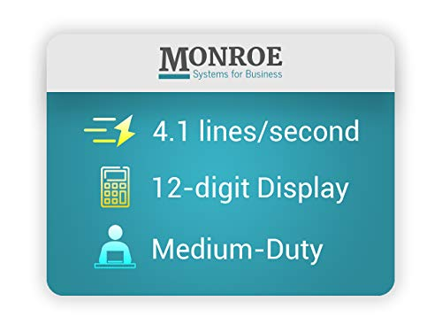 (1) Monroe 2020PlusX 12-Digit Medium-Duty Color Printing Calculator in Ivory