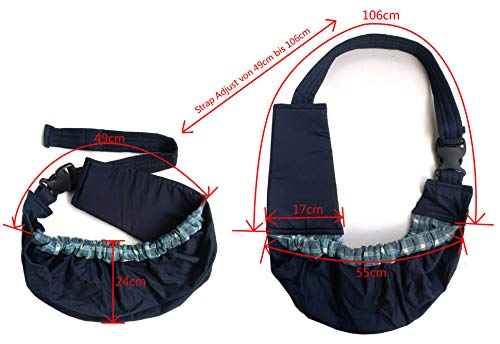 OrgMemory Carrier Soft-Sided Pet Carrier, Hands-Free Adjustable Sling Bag, Small Dogs/Cats Outdoor Shoulder Carry Bag 5