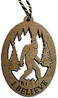 Best Jolette Designs Bigfoot Sasquatch Christmas Tree Ornament - USA Made Bigfoot Gifts - Top Original & Funny Gag Gift for The Yeti Lover - 3.5x2.5 Laser Cut Wooden Big Foot With Black & White Hanger Cord Review