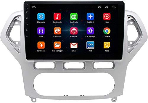 WXHHH Android 9 Cone Radio para Ford Mondeo 2006-2010 GPS Navegación de automóviles Multimedia USB Bluetooth WiFi Control de Volante + cámara Trasera,4g+WiFi:2+32