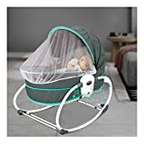 Bigzzia Portable 5 in 1 Baby Cradle Travel Bassinets for BabiesBaby Jumpers and Bouncers Baby Chair for Infants,Baby Swing Bassinet for Newborns.Green
