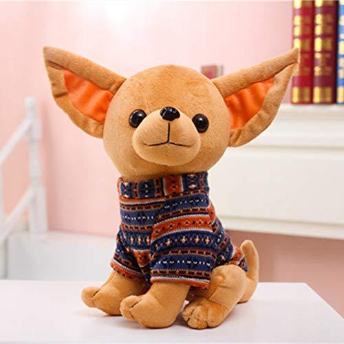 CZYCWJ 1Pc 32Cm Gevulde Knuffel Pluche Hond Chihuahua Creatieve Gevulde Pop Simulatie Speelgoed Kawaii Gift Voor Kid & Meisje Kerstcadeau