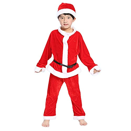 GDYJP Niños Santa Claus Cosplay Traje de Navidad Traje de Navidad for Hombre Boy Christmas Fiesta Año Nuevo Vestido de Disfraces (Color : Boy, Tamaño : 90cm)