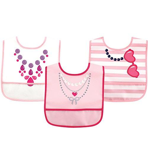 Luvable Friends PEVA Bib 3 Pack, Necklace