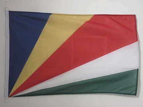 AZ FLAG Flagge Seychellen 90x60cm - Republik Seychellen Fahne 60 x 90 cm Aussenverwendung - flaggen Top Qualität