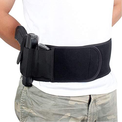 N \ A Funda para cinturón para el Vientre para Transporte Oculto, Compatible con Glock, Smith & Wesson, Taurus, Colt, Kimber, Beretta, Kahr, FN, Ruger, etc, cómoda Funda Transpirable, Unisex