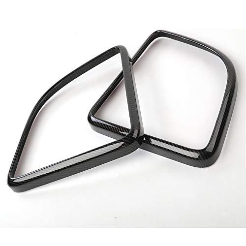CocheMarco de Fibra de Carbono Estilo del Interior del Coche del Altavoz de Techo Bisel Ajuste de Estilo, para Jeep Wrangler 2015+ ABS Car-Cubiertas de Accesorios