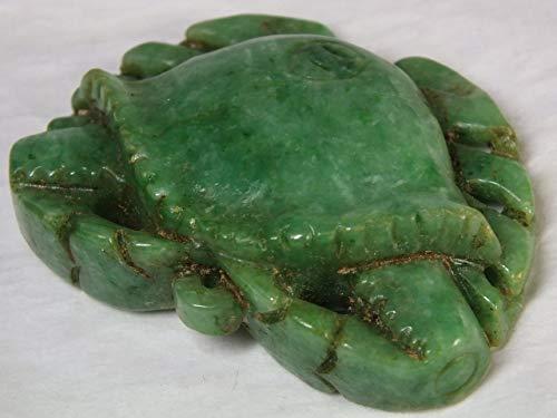 ◎ミャンマー翡翠彫物「梭子蟹(ワタリガニ)」53mm(t95)