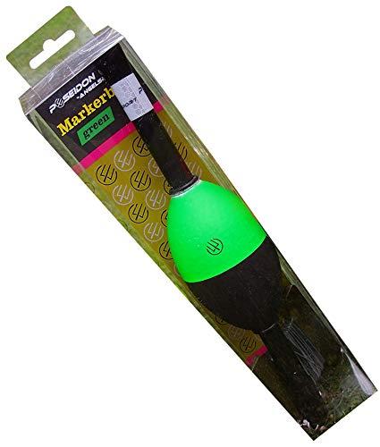 Poseidon Markerboje Coloured 28cm - Marker Boje zum Markieren des Spots beim Karpfenangeln, Markerpose zum Angeln auf Karpfen, Poseidon Farbe:Green