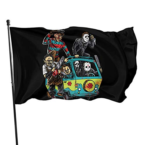 SEGMOO Halloween Michael Myers Classic Horror Movie Make A Charming Decoration in Any Backyard Or Lawn Flag 3x5 Ft