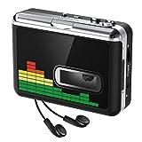 Reproductor de Cassette USB Convertidor de Cinta a MP3, Reproductor de música de Audio Walkman portátil Convertidor de Cassette a MP3 con Auriculares, no Requiere PC